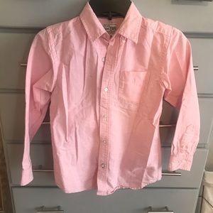 Boys Pink Button Down Shirt, Sz M